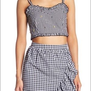 Romeo + Juliet Couture Gingham Crop Top